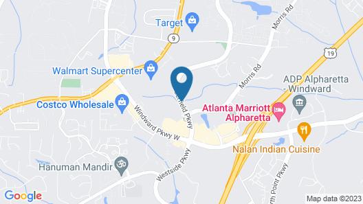 SpringHill Suites by Marriott Atlanta Alpharetta Map