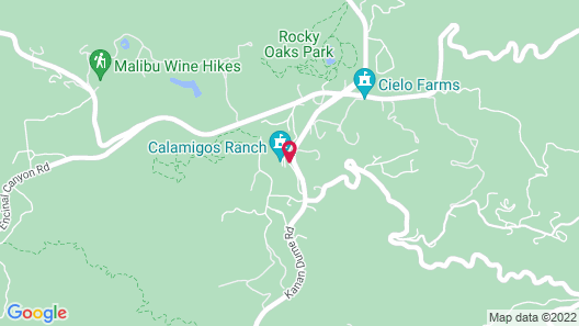Calamigos Guest Ranch and Beach Club Map
