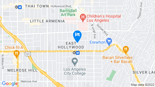 Hollywood Hotel - The Hotel of Hollywood Map