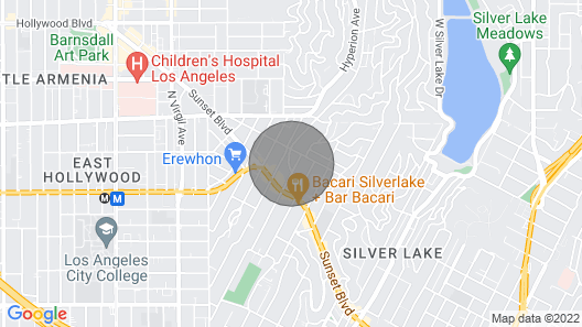 Modern Silver Lake House Seconds From Sunset Blvd Map