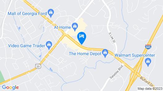 Travel Inn of Buford Map