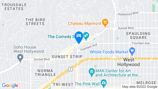 1 Hotel West Hollywood Map