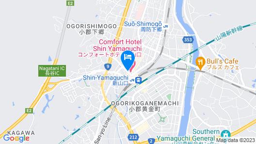 Comfort Hotel Shin Yamaguchi Map
