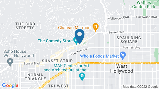 Andaz West Hollywood - a concept by Hyatt Map