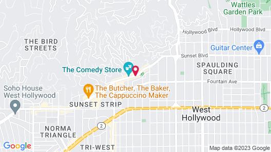 Best Western Plus Sunset Plaza Hotel Map