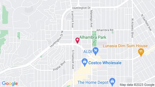 GreenTree Inn & Suites Alhambra Map