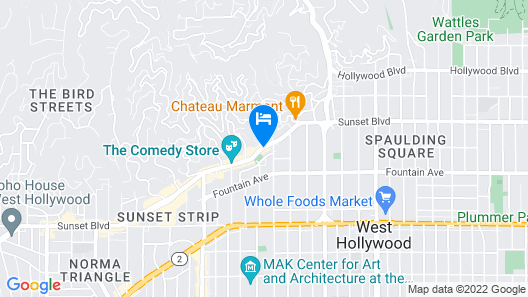 The Standard Hollywood Map