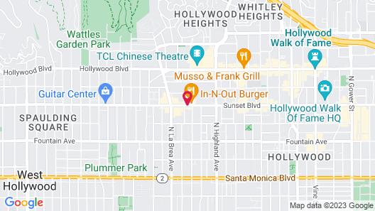 Days Inn by Wyndham Hollywood Near Universal Studios Map