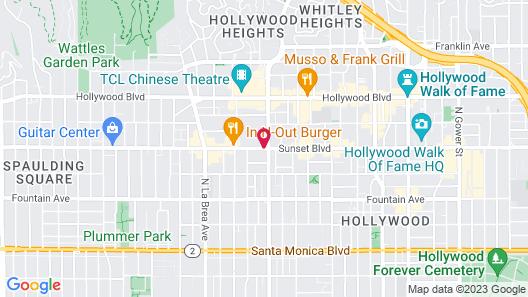 Rodeway Inn Hollywood Map