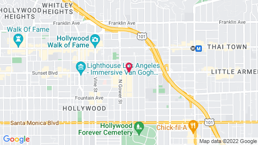 Hollywood Palms Inn and Suites Map