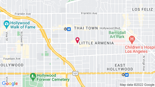 Economy Inn Hollywood Map