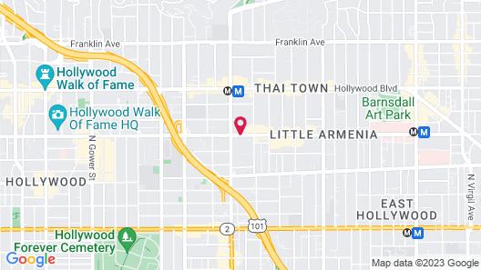Hollywood Stars Inn Map