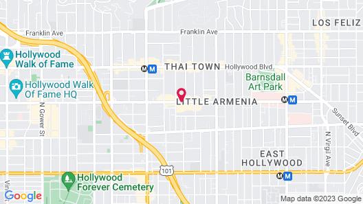 Americas Best Value Inn Hollywood Los Angeles Map