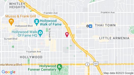 Ginosi Metropolitan Apartel Map