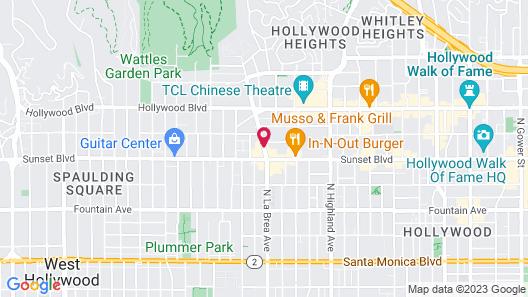 Quality Inn Near Hollywood Walk of Fame Map