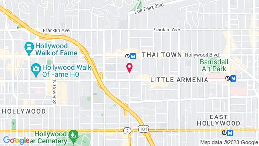 Super 8 by Wyndham Hollywood/LA Area Map