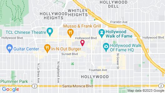 Mama Shelter Los Angeles Map