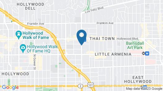 Hollywood City Inn Map
