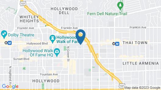 Banana Bungalow Hollywood Hotel & Hostel Map