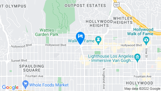Heaven on Hollywood Boulevard Furnished Apartments Map