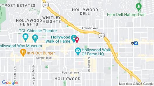 W Hollywood Map