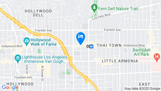 Hollywood Downtowner Map