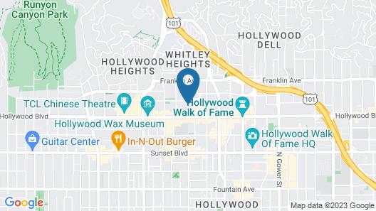 Motel 6 Hollywood Map