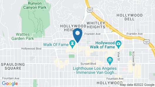 Loews Hollywood Hotel Map