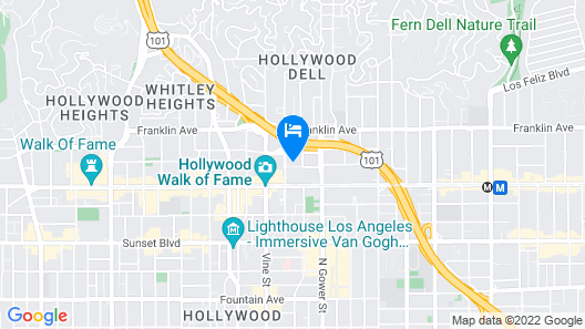 Kimpton Everly Hotel Map