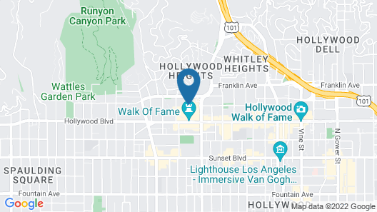 Hollywood Orchid Suites Map