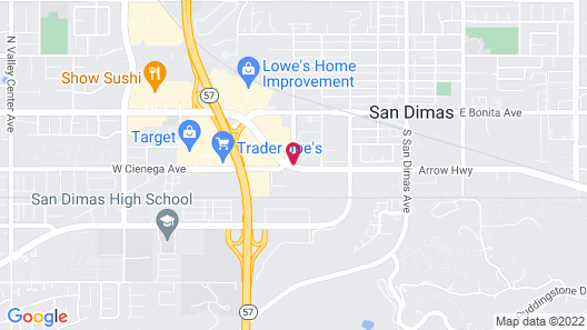 Holiday Inn Express Hotel & Suites San Dimas, an IHG Hotel Map