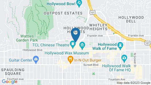Hollywood VIP Hotel Map