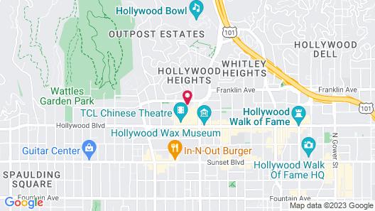 Hollywood Celebrity Hotel Map