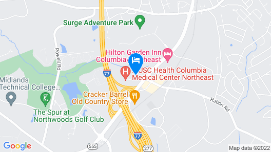 Courtyard by Marriott Columbia Northeast/Fort Jackson Area Map
