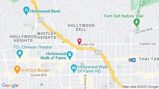 Best Western Plus Hollywood Hills Hotel Map