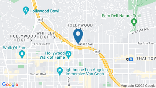 Best Western Plus Hollywood Hills Hotel Map