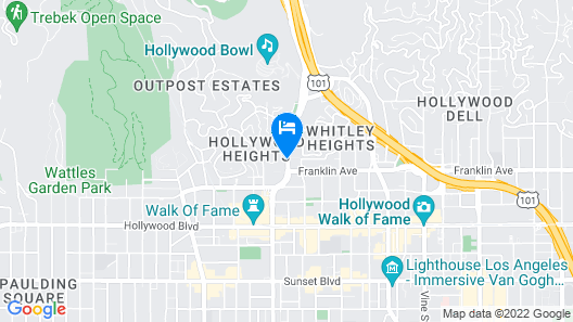 Holiday Inn Express Hotel & Suites Hollywood Walk of Fame, an IHG Hotel Map