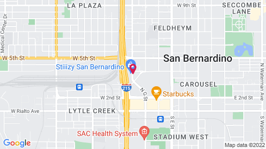 Americas Best Value Inn & Suites San Bernardino Map