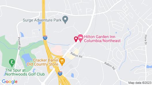 Hilton Garden Inn Columbia Northeast Map
