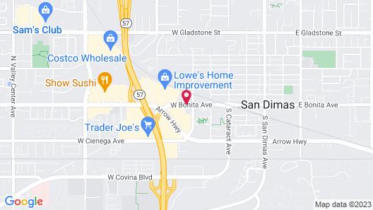 Best Western San Dimas Hotel & Suites Map