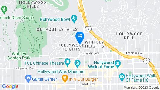 Lexen Hotel Hollywood Walk of Fame Map