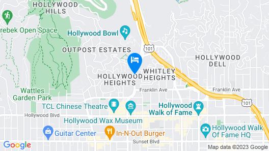 Best Western Hollywood Plaza Inn-Hollywood Walk of Fame Hotel - LA Map