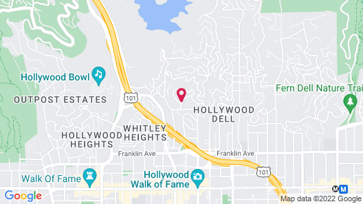 Hollywood Hills Exotic Bohemian Apartment Map