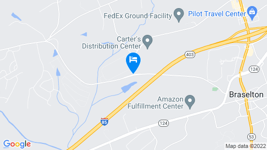 Holiday Inn Express And Suites Braselton West Map
