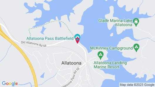 Lake Allatoona Inn Map