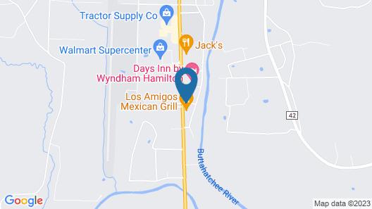 Motel 6 Hamilton, AL Map