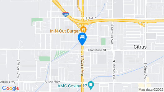Americas Best Value Inn Azusa Pasadena Map