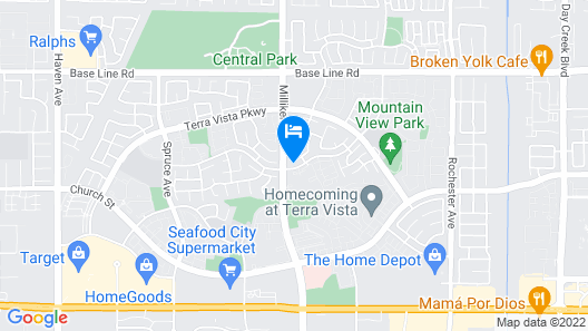 Rancho Cucamonga/la Family Luxury Home w/ Private Pool & Organic Premium Beds Map