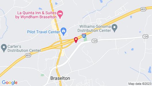 Best Western Braselton Inn Map