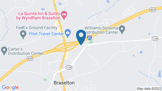 Best Western Braselton Inn Map